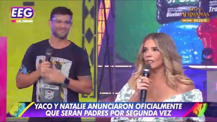 Johanna San Miguel casi llora con Yaco Eskenazi por el embarazo de Natalie Vértiz | VIDEO