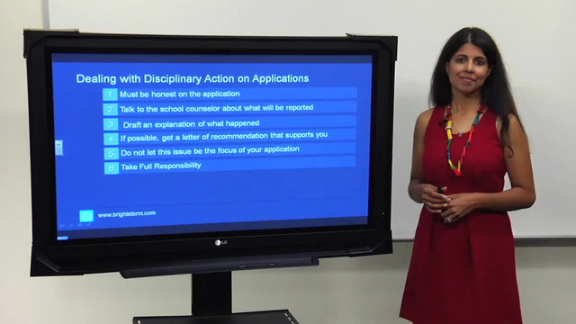 Dealing with Disciplinary Action on Applications