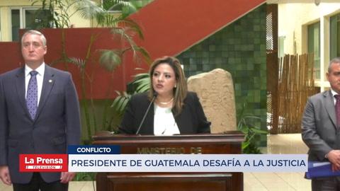 Presidente de Guatemala desafía a la justicia