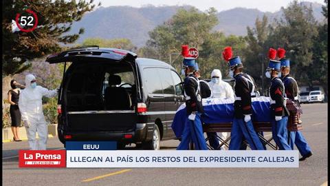 Noticiero: Llegan al paÍs los restos del expresidente Callejas