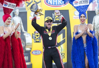 Steve Torrence wins NHRA Top Fuel title at LVMS