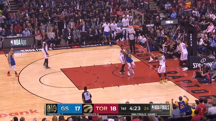 Las 5 mejores jugadas del primer partido de la Final de la NBA Toronto Raptors-Golden State Warriors el 31 de mayo de 2019
