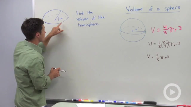 Volume of Spheres - Problem 1