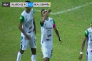 Aldo Fajardo Anota el 3 - 2 de Platense ante Real España