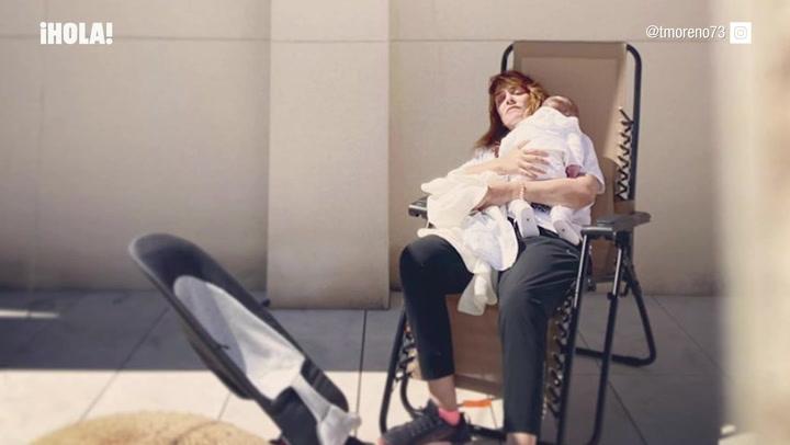 \'Mi mundo en una foto\', la tierna imagen de Toñi Moreno con su hija Lola