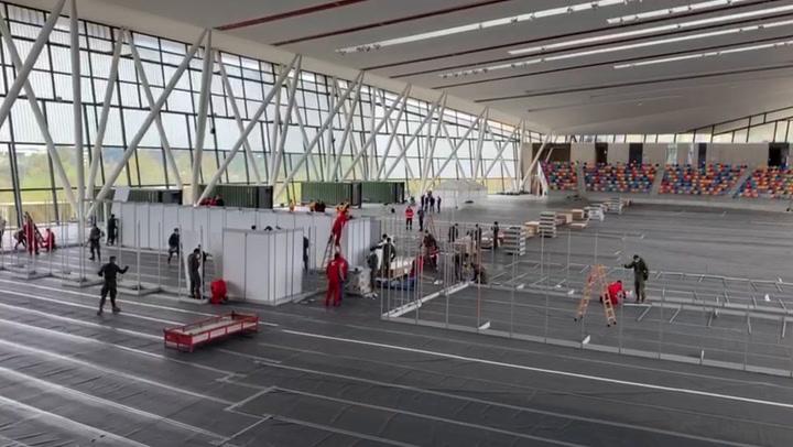 Así avanza la construcción del hospital de Sabadell por parte del Ejército
