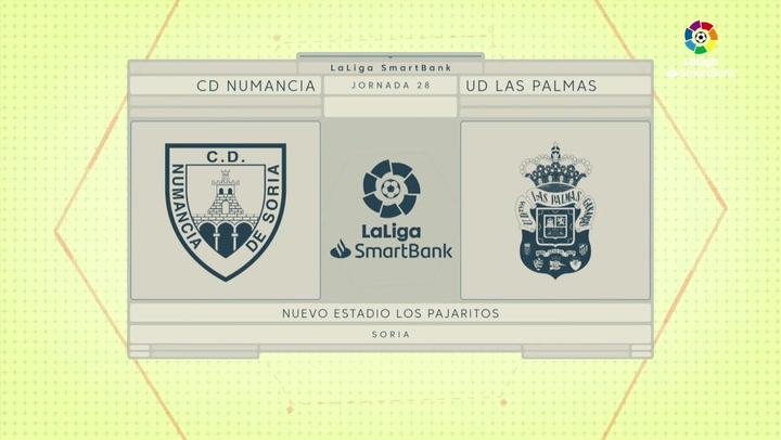 LaLiga SmartBank (J28): Resumen y goles del Numancia 1-1 Las Palmas