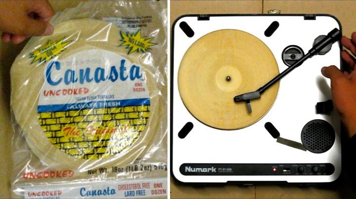 Hva? Det kommer musikk ut av tortillalefsa!