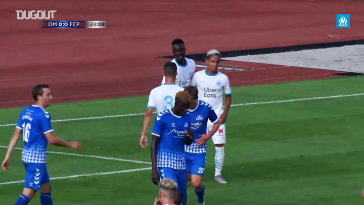 Pape Gueye's first goal with Olympique de Marseille