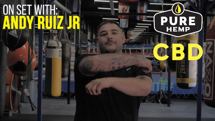 Pure Hemp CBD: On Set W/ Andy Ruiz Jr