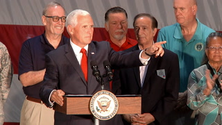Vice President Mike Pence visits Nellis Air Force Base