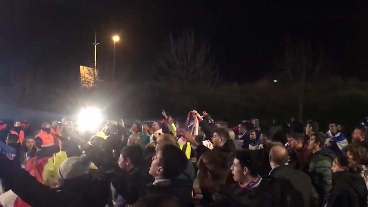Algunos aficionados del Espanyol recuperaron los cánticos insultantes contra Gerard Piqué antes y durante el derbi