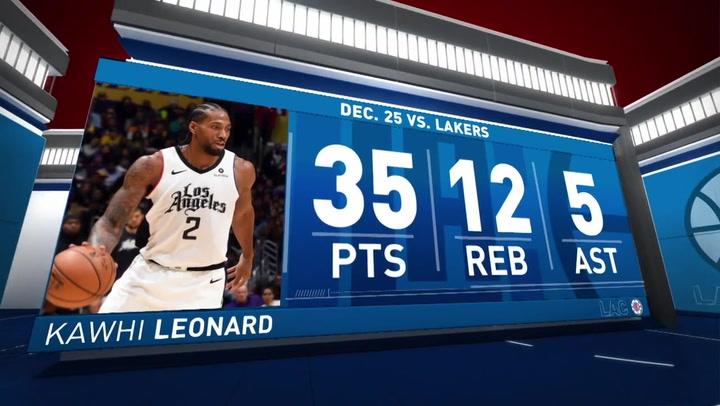 Kawhi Leonard brilla en la victoria de los Clippers ante los Lakers