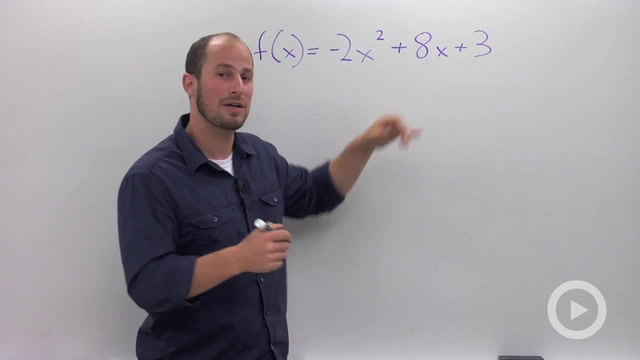 Finding the Vertex of a Parabola by Completing the Square - Problem 2