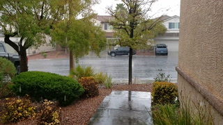 Rain in Summerlin on Easter Sunday, April 12, 2020 (Rory Appleton)