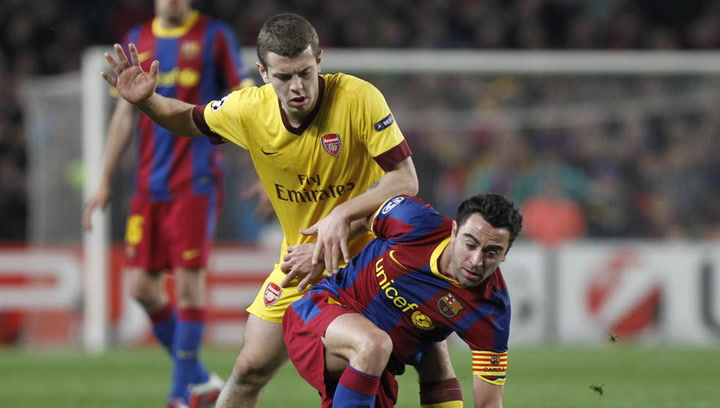 Un jóven Jack Wilshere se enfrentó al Barcelona en Champions League 2011 con el Arsenal