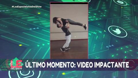 La caída de Jujuy Jiménez mientras ensayaba para el Bailando