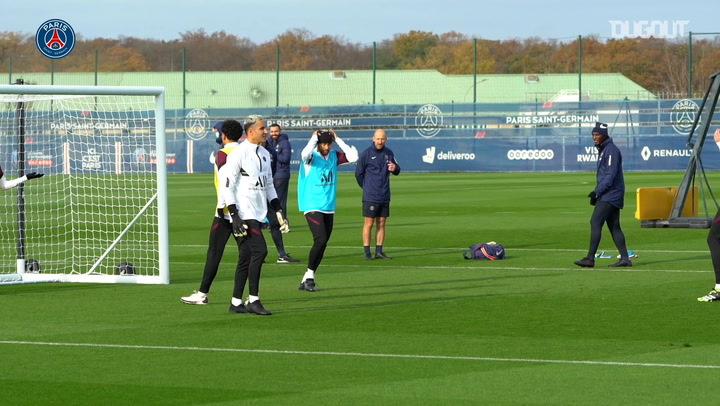 Neymar Jr's training session before RB Leipzig clash