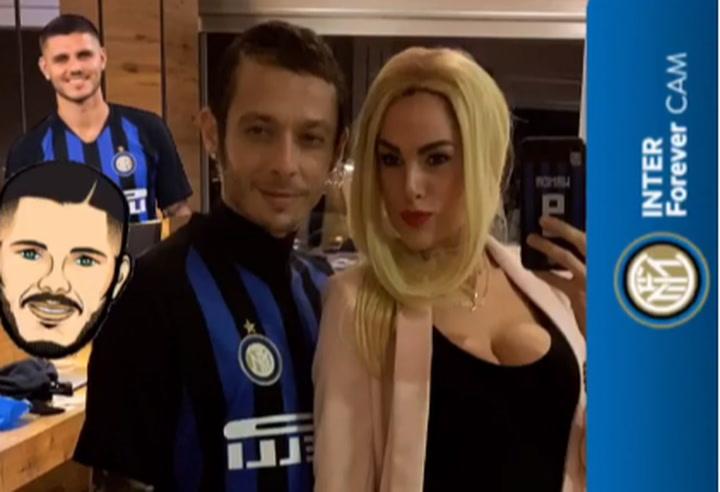 Valentino Rossi y su mujer se disfrazan de Icardi y Wanda Nara