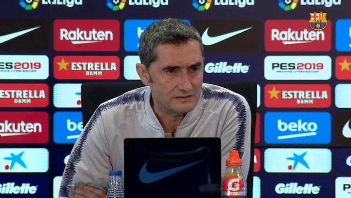 Rueda de prensa de Ernesto Valverde previa al partido de liga contra el Villarreal