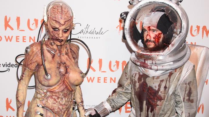 Heidi Klum cura sus ganas de Halloween… ¡con filtros terroríficos!
