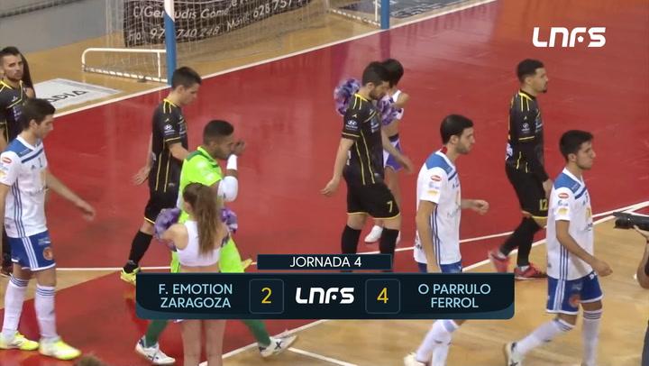 LNFS. Jornada 4: Futbol Emotion Zaragoza - O Parrulo Ferrol (2-4) Jornada 4 Temp 19-20-2020