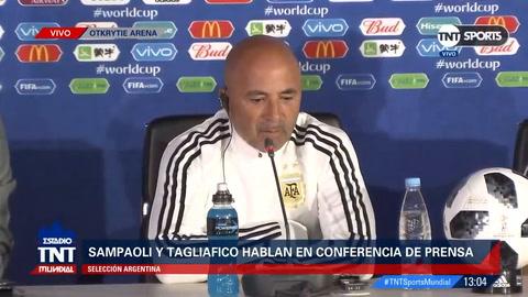 Sampaoli confirmó a Biglia y Mascherano como doble cinco y al Kun Agüero como único punta para el debut argentino