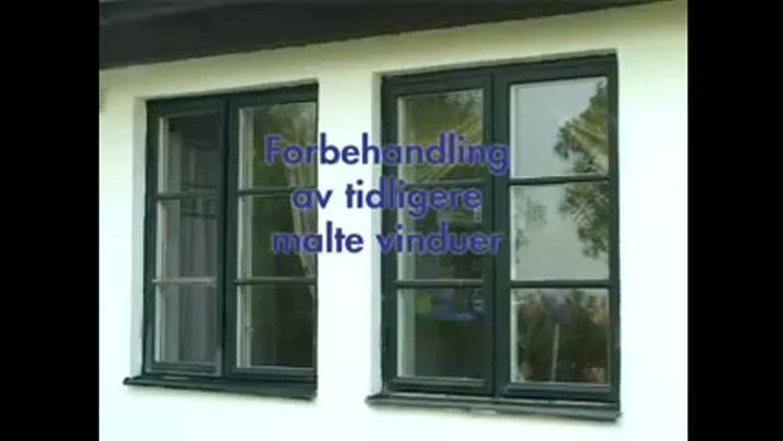 Hvordan forbehandle tidligere malte vinduer