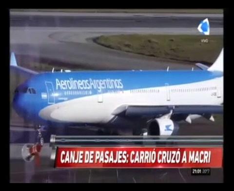Carrió: Macri no tiene problemas de pasajes porque siempre viajó en helicóptero