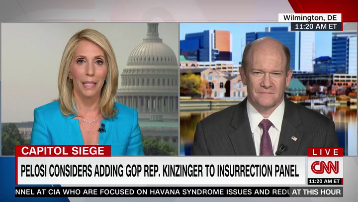 Coons: Kinzinger 'Would Be a Great Addition' to the Jan. 6 Committee