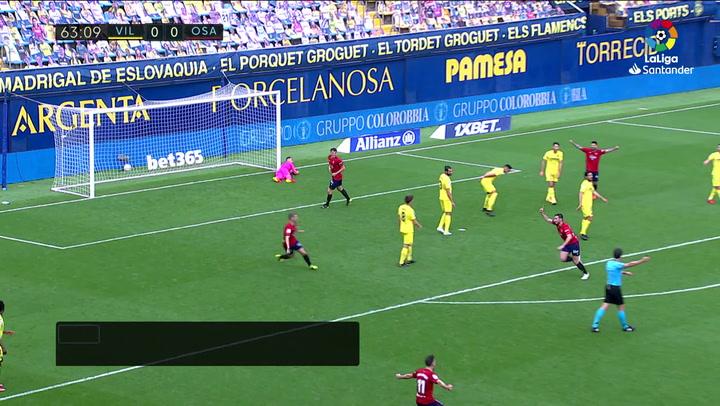 Gol de Moncayola (0-1) en el Villarreal 1-2 Osasuna