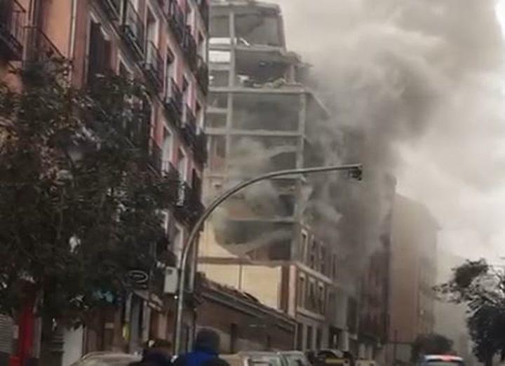 Así ha quedado el edificio de Madrid tras la explosión