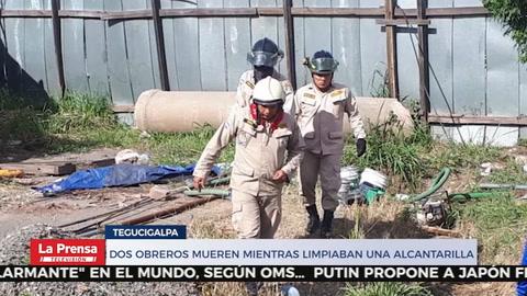 Dos obreros mueren mientras limpiaban una alcantarilla