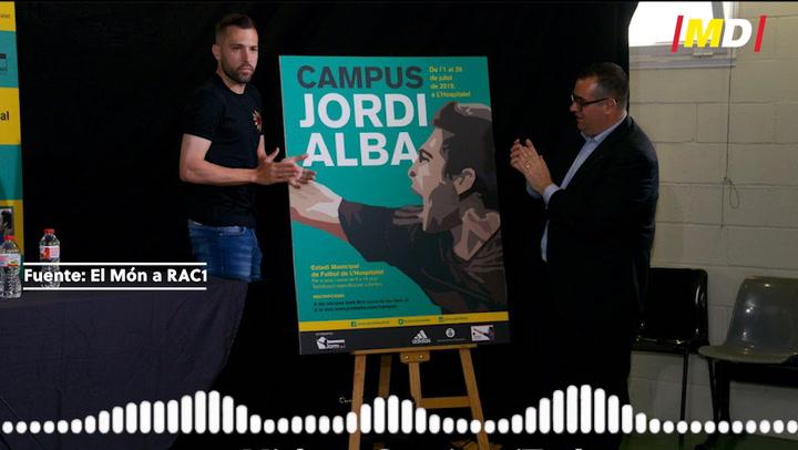 """Jordi Alba: """"Si quitamos estos dos partidos, es la mejor temporada de mi carrera"""""""