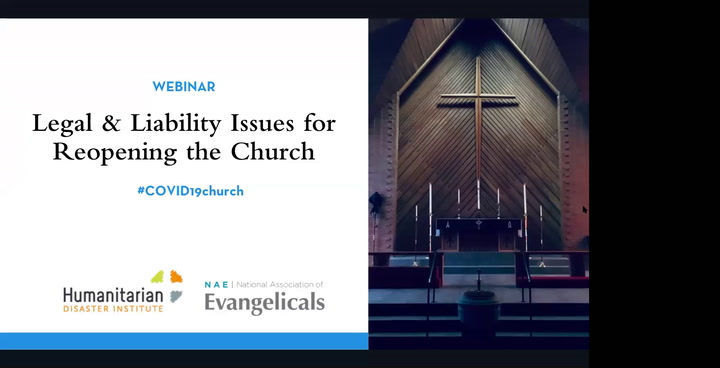 Legal and Liability Issues for Reopening the Church