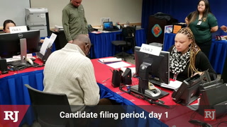 Candidates file for office in Clark County  – VIDEO