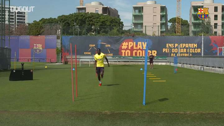 Ousmane Dembélé continues recovery at Ciutat Esportiva