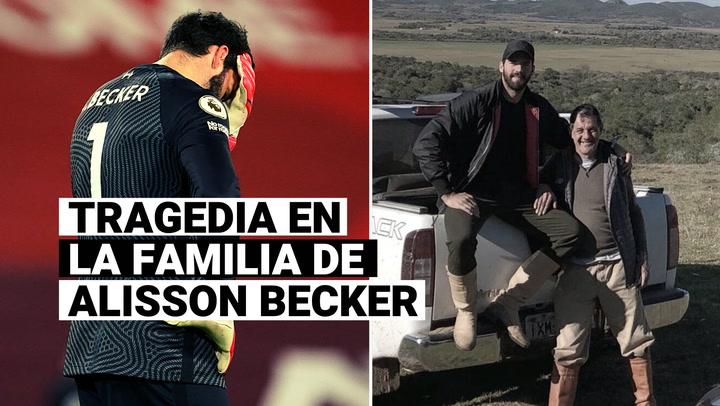 Tragedia en la familia de Alisson Becker: encuentran muerto al padre del portero del Liverpool