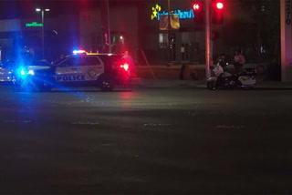Police investigating auto-pedestrian crash in central Las Vegas