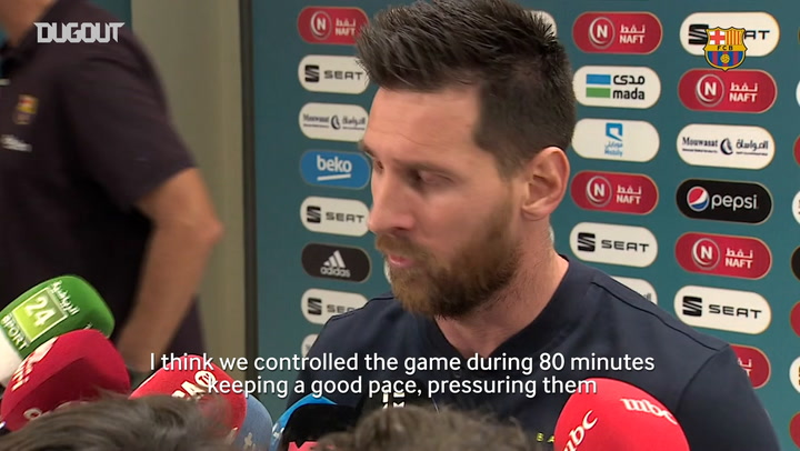 Leo Messi: 'We could have won with the two disallowed goals'