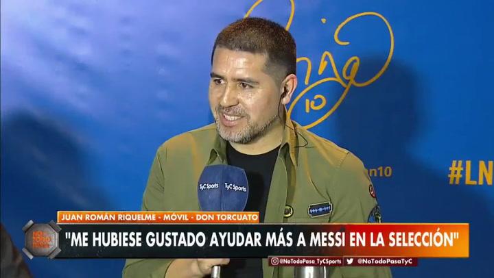 """Riquelme: """"Sueño con ver a Messi con la camiseta de Boca"""""""