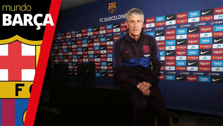 Entrevista a Quique Setién, entrenador del FC Barcelona