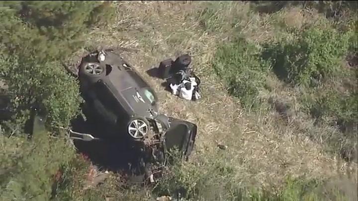 Así ha quedado el vehículo que conducía Tiger Woods tras el accidente