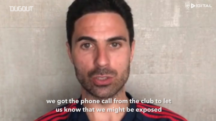 Mikel Arteta discusses his experience with Coronavirus