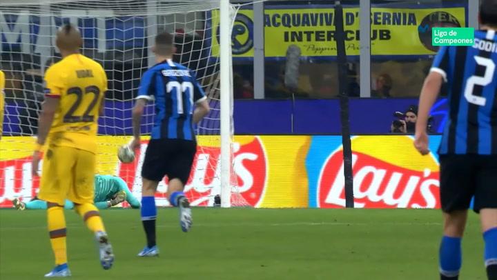 Champions League Inter - Barça. Gol de Lukaku (1-1)