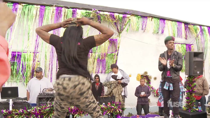 Big Freedia Performs at a Local Gun Buy-Back Block Party