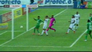Así fue el gol que se le anuló a Marathón ante el Olimpia en el Nacional