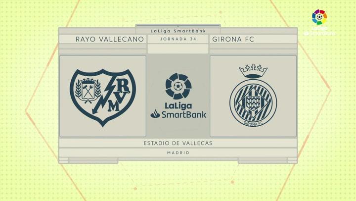 LaLiga SmartBank (J34): Resumen y goles del Rayo Vallecano 2-1 Girona