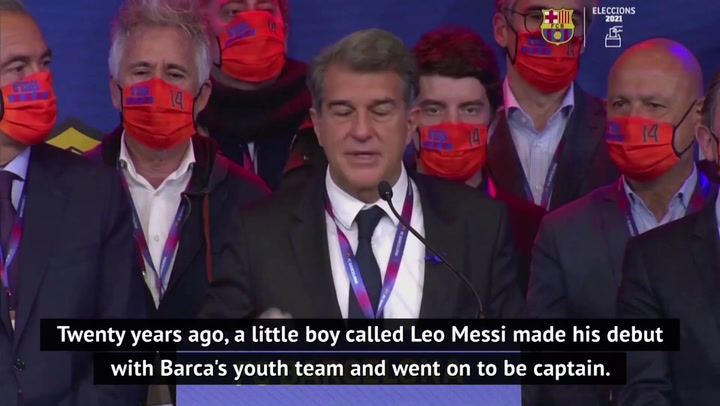 Laporta hopeful Messi will stay at Barcelona after election vote