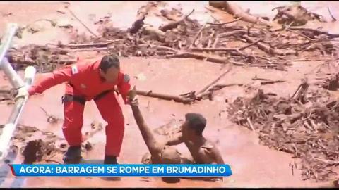 Al menos 200 desaparecidos por la ruptura de una represa minera en Brasil
